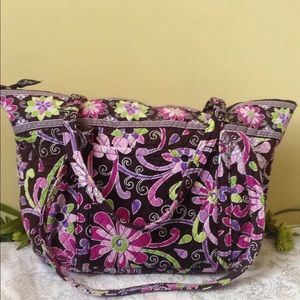 Vera Bradley quilted floral XL Tote overnight bag